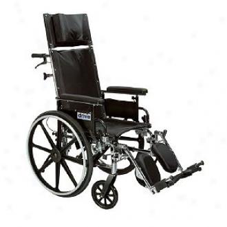 Drive Medical 12  Light Weight Reclining Wheelchair Elevating Legrest Detachable Desk Arms
