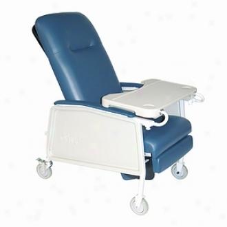 Drive Medical 3 Place Heavy Duty Bariatric Geri Chair Recliner Blue Ridge
