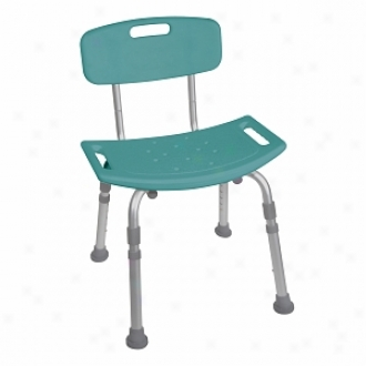 Drive Medical Designer Series Deluxe aBth Bench With Back, Teal