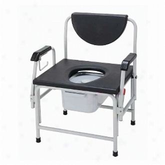 Drive Medical Extra Large Super Heavy Duty Bariatric Drop Arm Commode