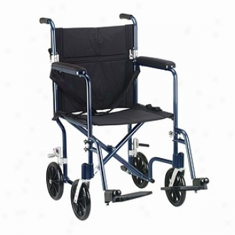 Drive Medical Fly-weight Transport Chair, Pedantic  Frame/black Upholstery