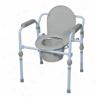 Dtive Medical Folding Bedside Commode Seat With Bcuket & Splash Guard