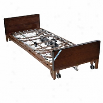 Drive Medical Full Electric Ultra Light Hospital Bed And Full Length Side Rails