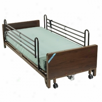 Drive Medical Full Electric Ultra Light Hospital Bed Mattress And Full Length Side Rails