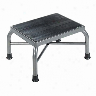 Drive Medical Heavy Duty Bariatric Footstool With Handrail And Non Skid Rubber Platform