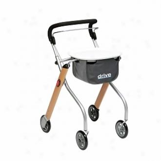 Drive Medicinal Let's Go Indoor Lightweight Mobility Wakler Rollator