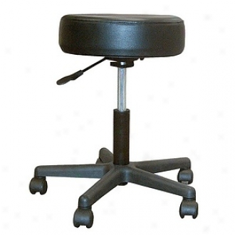 Drive Medical Padded Seat Revolving Pneumatic Adjustable Height Stool With Plastic Base