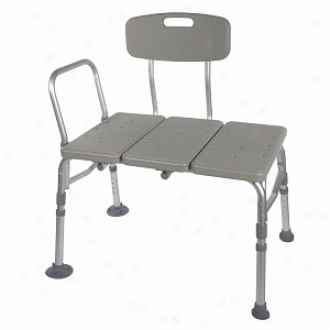 Drive Medical Plastic Transfer Bench With Adjustagle Backrest