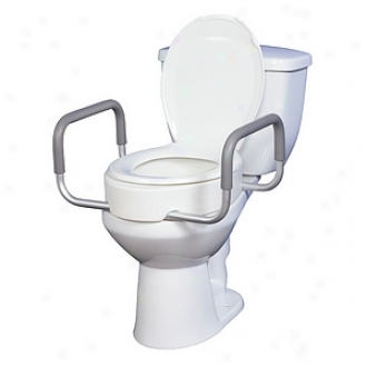 Drive Medical Premium Seat Riser Upon Removable Arms For Standard Toilets