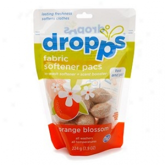 Droppps Fabric Softener Pacs, 16-load Pouch, Orange Blossom