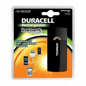Duracell Instant Usb Charger, With Universal Cavle, Usb & Mini Usb