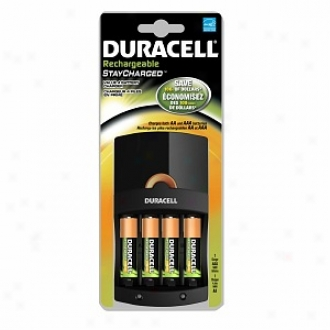Duracell Value Charger With 4 Aa Staycharged Nihm Batteries