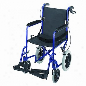 Duro-med 19   Lightweight Aluminum Transport Chair, Royal Pedantic