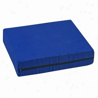 Duro-med Pincore Cushion W Polyester Cotton Cover, 16  X 18  X 4 , Navy