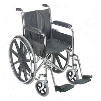Duro-med Wheelchair 18  With Mag Wheels - Fixed Armrest Swingaway Footrest