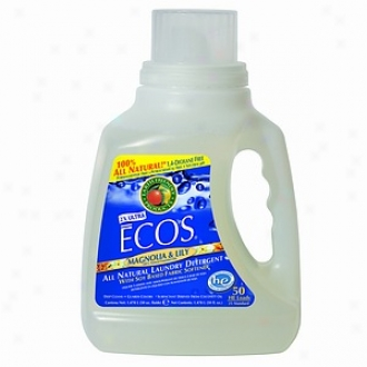 Earth Peaceable Products Ecos Ultra Concentrated 2x Laundry Detergent  Magnolia Lily