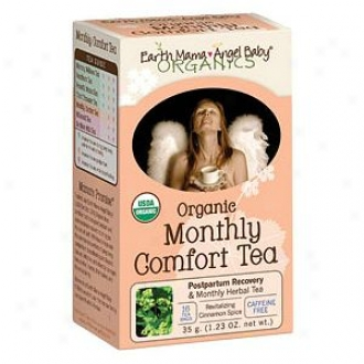 Earth Mama Angel Baby Organic Herbal Tea For Postpartum & Monthly Discomfort, Monthly Support