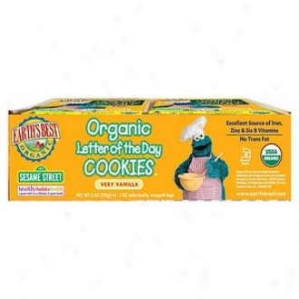 Earth's Best Sesame Street Organic Letter Of The Day Cookies Very Vanilla Multipack