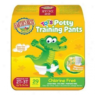 Earth's Best Tendercare Tots Training Pants, Size 2t-3t, 29 Ea