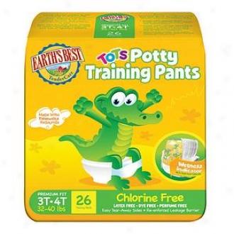 Earth's Best Tendercare Tots Training Pants, Size 3t-4t, 26 Ea