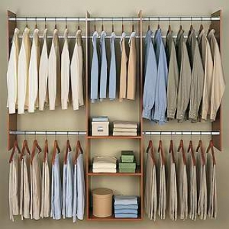 Easy Track Closet Easy Track 4' To 8' Deluxe Starter Closet Rb1460-c.pk