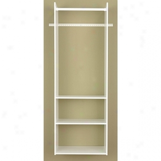 Easy Track Closet Easy Ttack White Hanging Tower ClosetR v1472.pk