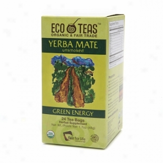 Eco Teas Herbal Supplement Tea, Yerba Mate/green Energy