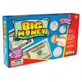 Educational Insights Big Mney-magnetic Coins & Bills, Ei-3063 Ages 3+