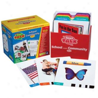 Educational Insights Smart Talk, Card Set, #2 School & Community, Ei-2692 Ages 3+