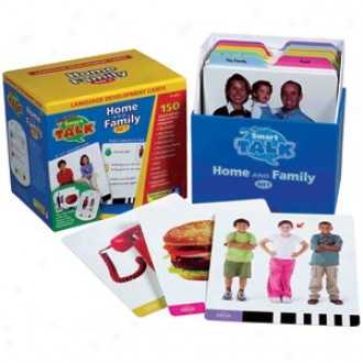 Educational Insights Smart Talk, Card Sets, #1 Home &am0; Family, Ei-2691 Ages 3+