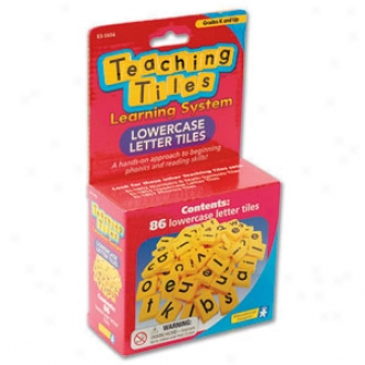 Educational Insights Teaching Tiles, Lowercase Literature, Ei-1854 Ages 3+