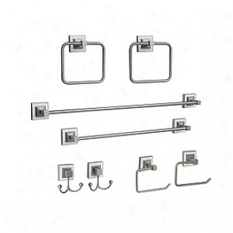 Elegant Home Fashions 8 Painting Bathroom Set Hutton, White Brushed Nickel