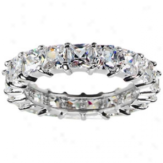 Emitwtions Aren's Princess Cut Cz Stackable Eternity Ring, 9