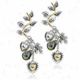 Emitations Casino Royale Inspired Bond Girl Earrings, Silver Ans Gold