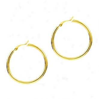 Emitations Charline's Clip-on Hoop Earrings - Gold, Extra Large, Gold