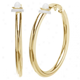Emitations Charline's Clip On Hoop Earrings - Large, Gold