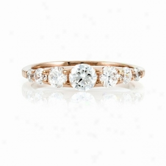 Emitations Cordeliahs Rose Gold Plated Cz Eternity Band, 8