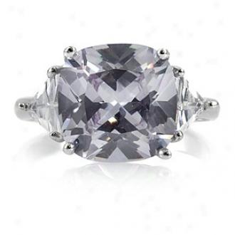 Emitations Cz Engagement Ring - Jenniffer Lopez Inspired Lavender, 6