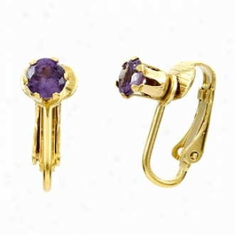 Emiyations Deenas Clip On Earrings- June Birthstone, Faux Alexandrite