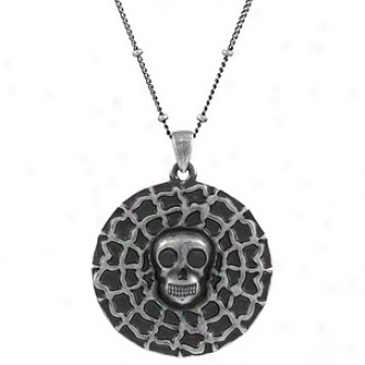 Emitations Elizabeth Swan's Skull Necklace Inspired By Pirates Of The Carribean, Silve Tone