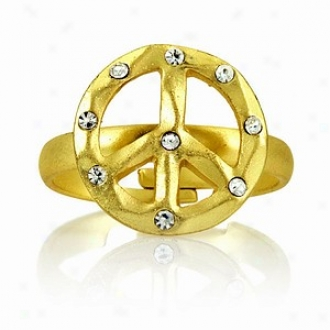 Emitations Eve's Adjustable Peace Sign Tingle, Gold Tone, One-size