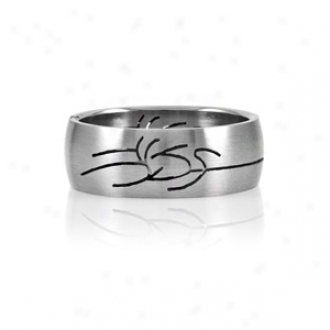 Emitations Felipe's Tribual Design Stainless Steel Men's Ring, 12
