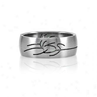 Emitations Felipe's Tribal Design Stainless Steel Men's Ring, 14