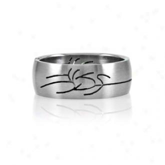 Emitations Felipe's Tribual Design Stainless Steel Men's Ring, 11