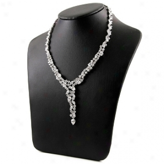 Emitations Hallie's Formal Cz Diamond Cluster Y Necklace, Gold