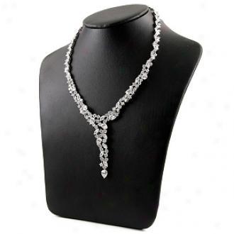 Emitations Hallie's Formal Cz Diamond Cluster Y Necklace, Gold