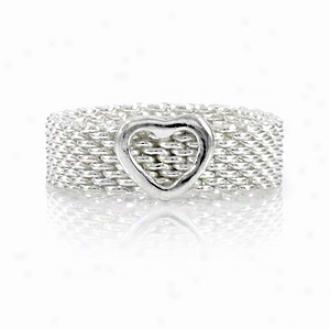 Emitations Heart Charm Promise Ring Ensnare Designer Inspired, 8