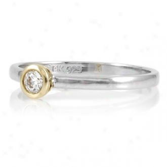 Emitations Inara's .25 Carat Cz Promise Ring Round Ct Ring, 6
