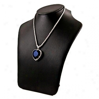 Emitations Inspired By Titanic  Haert Of The Ocean  Necklace, Sap;hire
