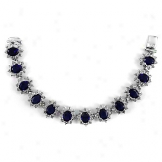 Emtiations Kate Middleton Inspired Sapphire Bracelet, Sapphire